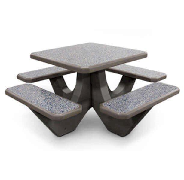 36 Square Commercial Concrete Picnic Table 1100 Lbs