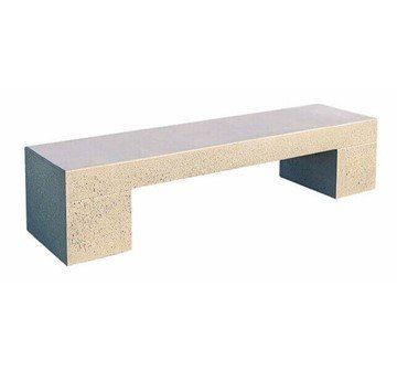 Smooth Tech Commercial Concrete Backless Bench - 6 Ft. or 8 Ft.