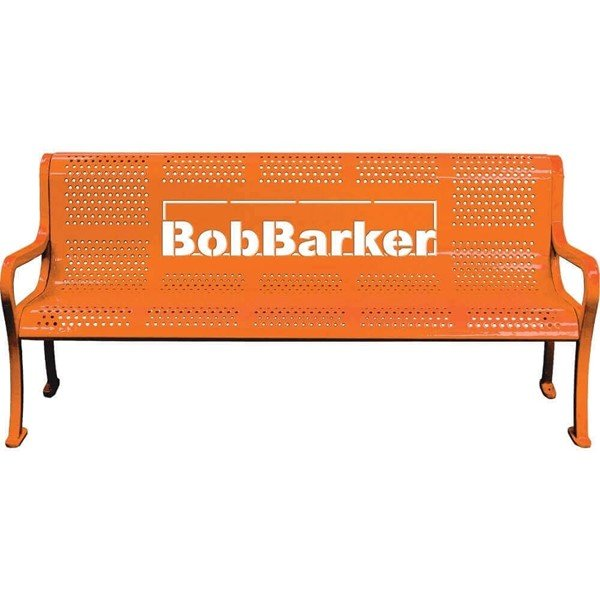 Personalized Perforated Style Thermoplastic Bench