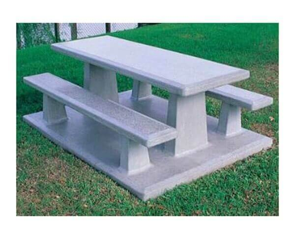 102 Quot Rectangular Commercial Concrete Picnic Table With