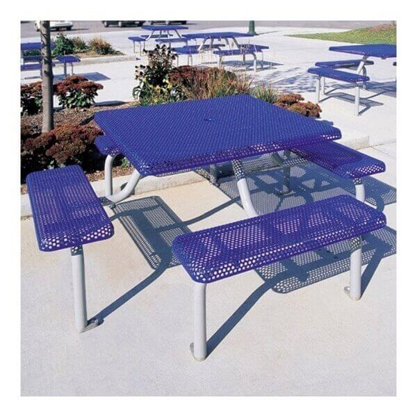 42 Quot Commercial Square Thermoplastic Picnic Table With Four