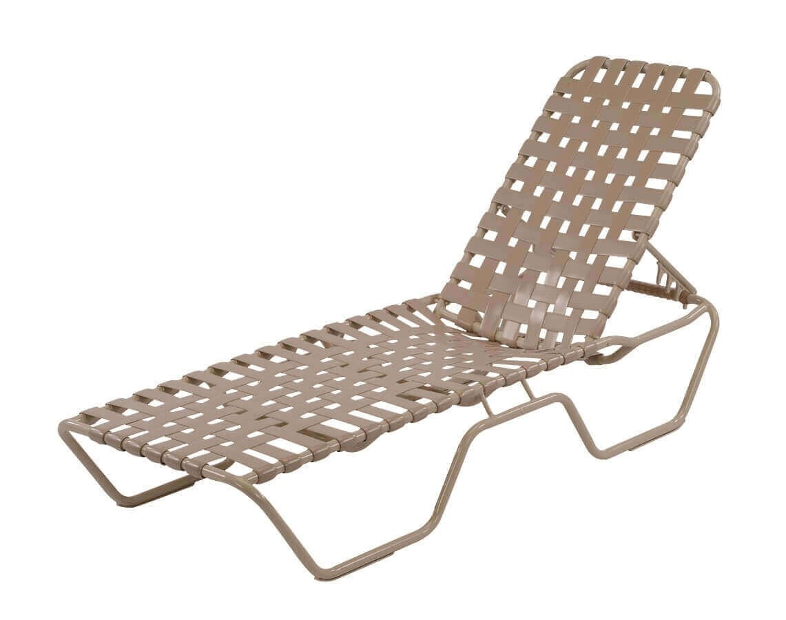 Commercial Vinyl Strap Pool Furniture St. Maarten Cross Weave Strap Chaise Lounge  sc 1 st  Furniture Leisure : commercial chaise lounge pool - Sectionals, Sofas & Couches