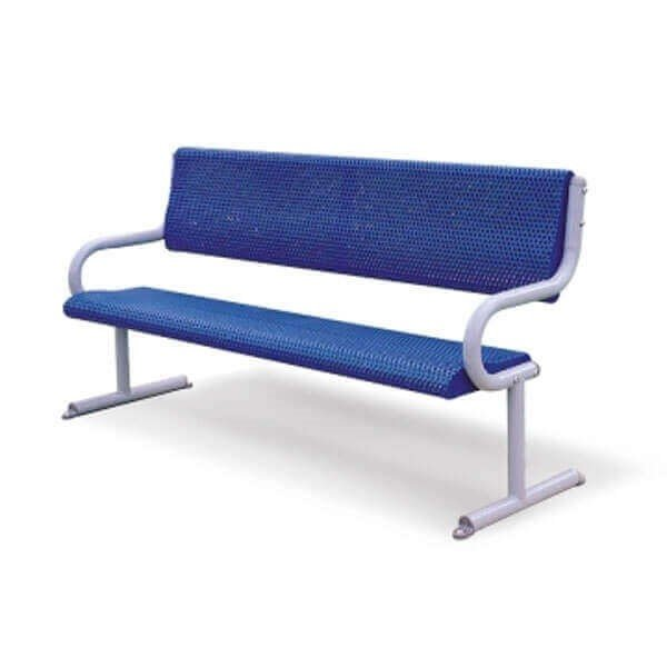 6 Ft. Commercial Thermoplastic Bench With Galvanized Steel Frame
