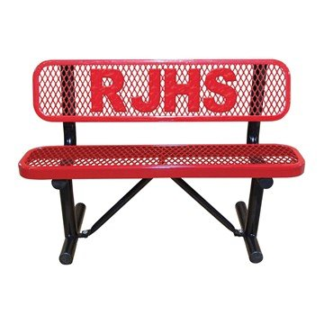 Picture of 4 ft. Personalized Expanded Style Thermoplastic Bench - 150 Lbs.
