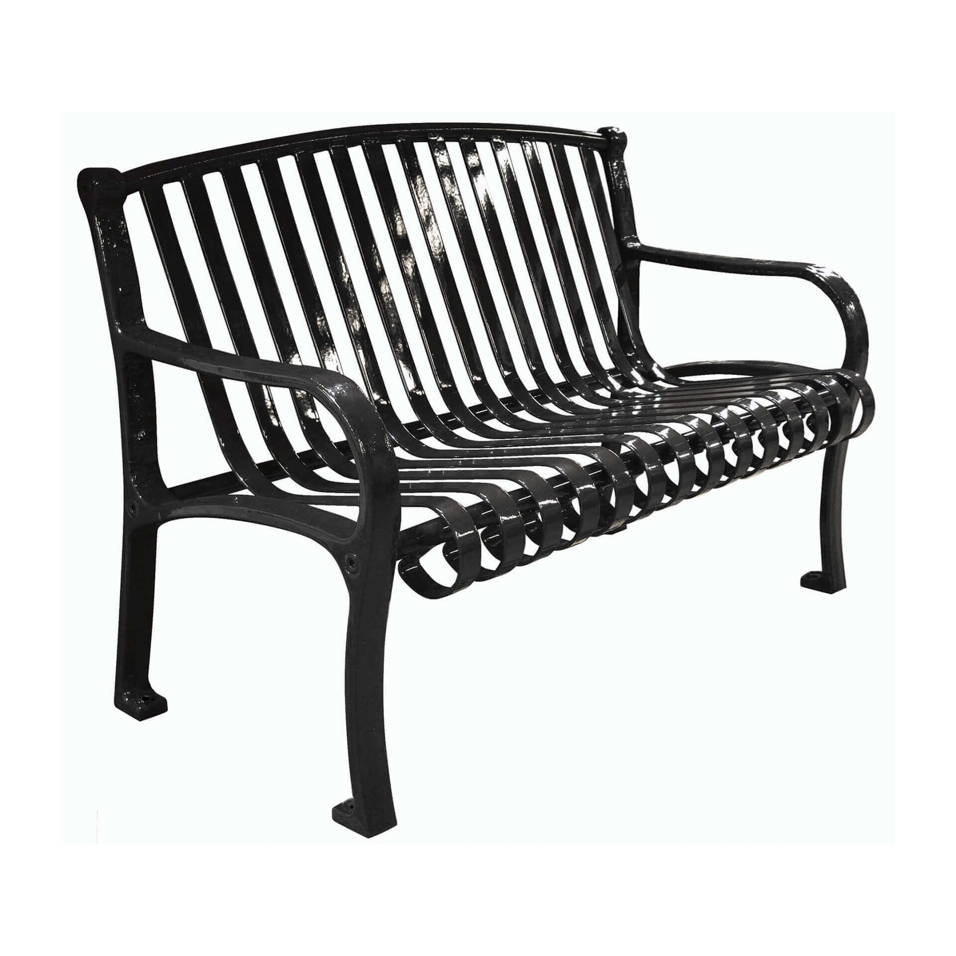main eldert benches steel small bruhsed display gridiron bench brushed stainless