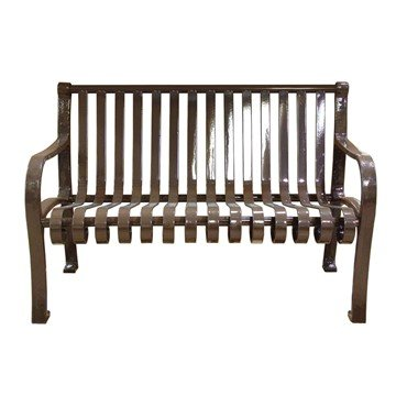 Picture of Oglethorpe Ribbed Style Thermoplastic Steel Bench - 4 or 5 ft.
