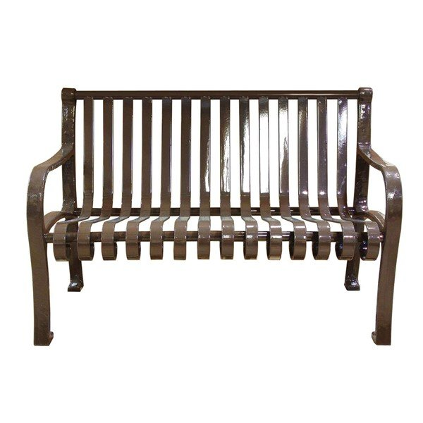 Oglethorpe Ribbed Style Thermoplastic Steel Bench