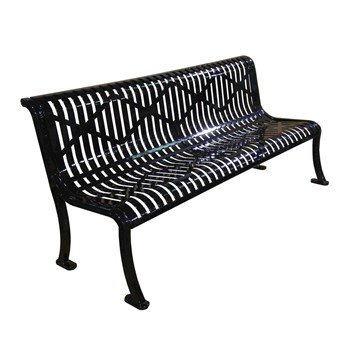 Picture of Rolled Diamond Style Thermoplastic Contoured Steel Bench without Arms - 6 ft. or 8 ft.