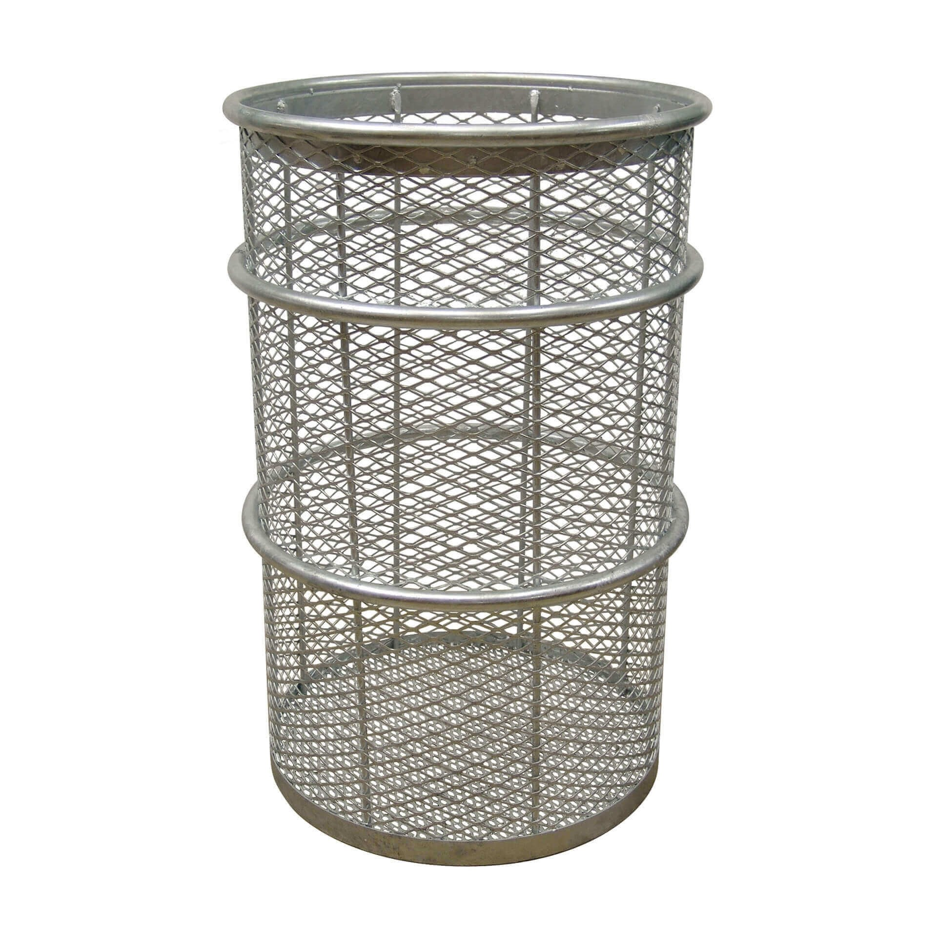 55 Gallon Galvanized Steel Mesh Style Thermoplastic Coated