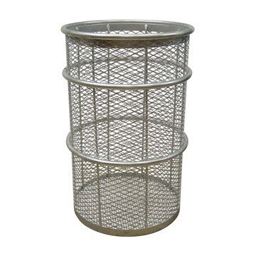 55 Gallon Galvanized Steel Mesh Style Thermoplastic Coated Trash Receptacle