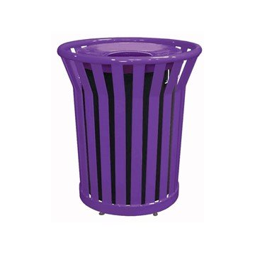 Picture of 32 Gallon Ribbon Style Thermoplastic Receptacle w/ Liner & Flat Top Lid
