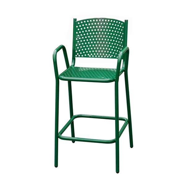 """Picture of 42"""" Perforated Thermoplastic Coated Bar Chair"""