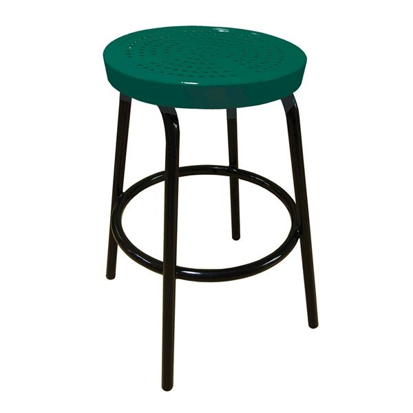"Picture of 28"" Tall Perforated Style Thermoplastic Coated Barstool"