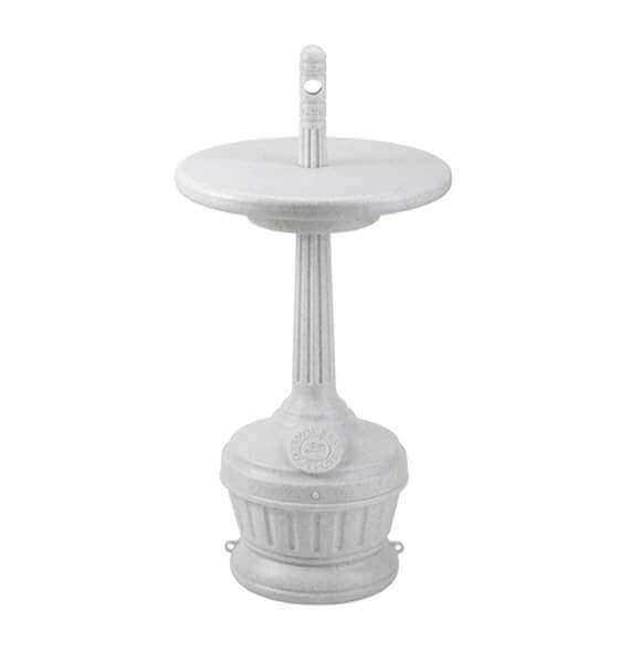 Smoker's Outpost Commercial Plastic Cigarette Disposal With Table