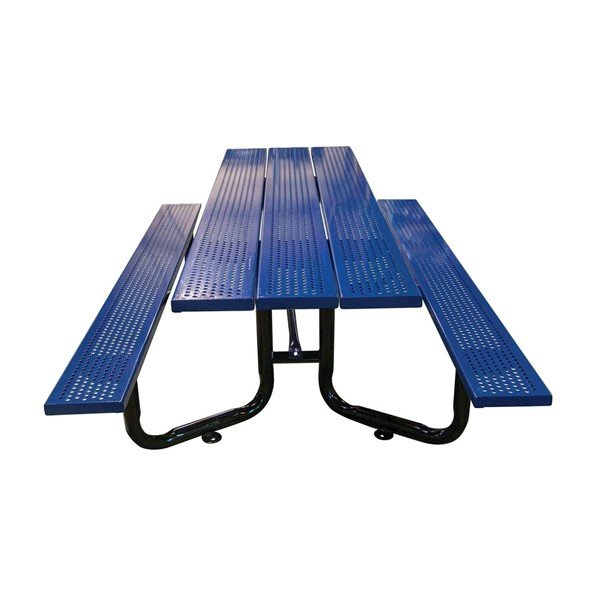 Picture of 10 ft. ADA Rectangular Y-Base Perforated Steel Plank Picnic Table - 295 Lbs.