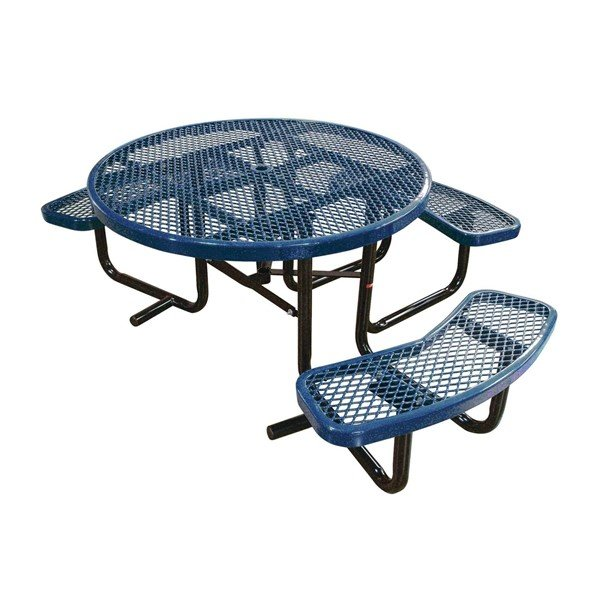 """46"""" Round ADA Expanded Style Thermoplastic Picnic Table"""
