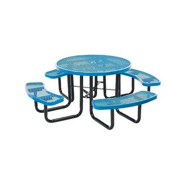 "46"" Round Expanded Style Thermoplastic Picnic Table"