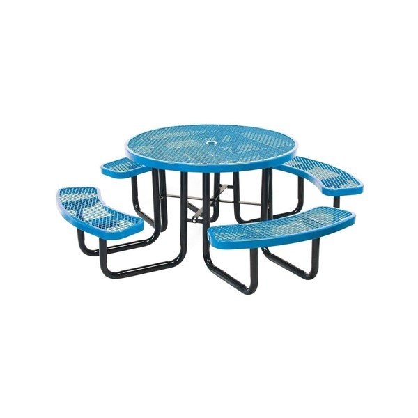 """46"""" Round Expanded Style Thermoplastic Picnic Table"""