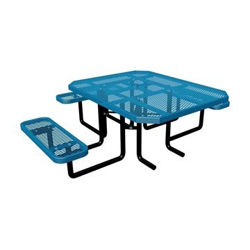 "46"" x 58"" Square ADA Expanded Style Thermoplastic Picnic Table"
