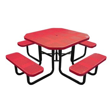 "46"" Square Perforated Style Thermoplastic Picnic Table"