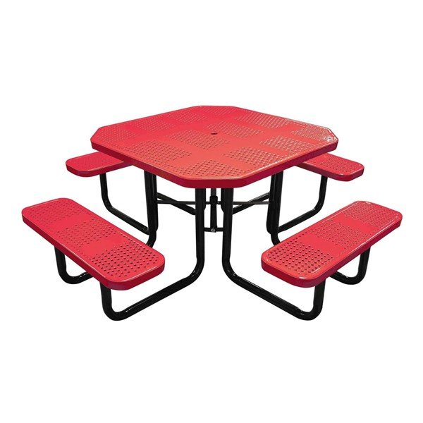 """46"""" Square Perforated Style Thermoplastic Picnic Table"""