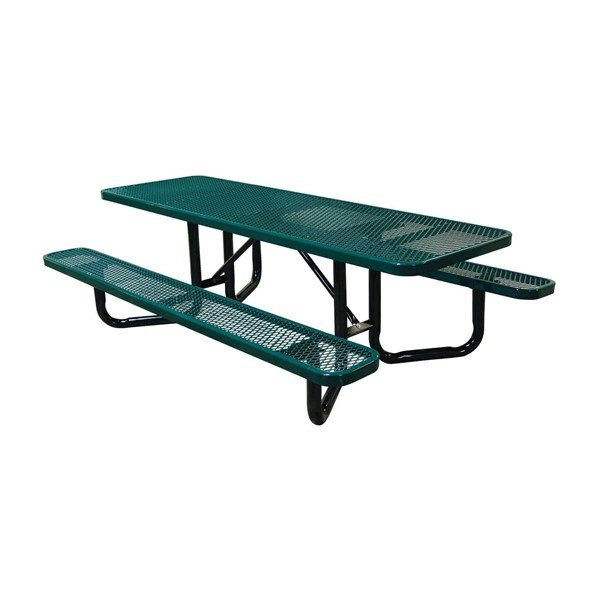 8 ft. Y-Base ADA Rectangular Expanded Thermoplastic Picnic Table