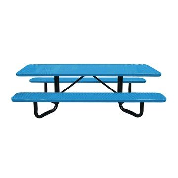 8 ft. Y-Base ADA Rectangular Perforated Thermoplastic Picnic Table