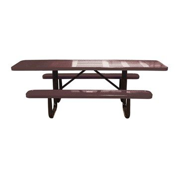 Dual Access ADA Perforated Rectangular Thermoplastic Picnic Table