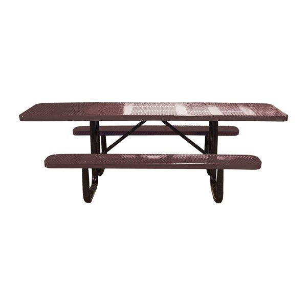 Picture of Dual Access ADA Perforated Rectangular Thermoplastic Picnic Table
