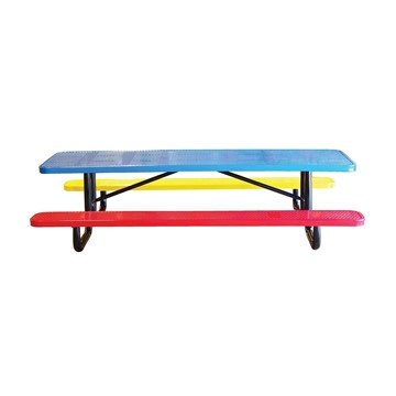 Picture of 8 Ft. Rectangular Perforated Style Thermoplastic Children's Picnic Table - 370 Lbs.