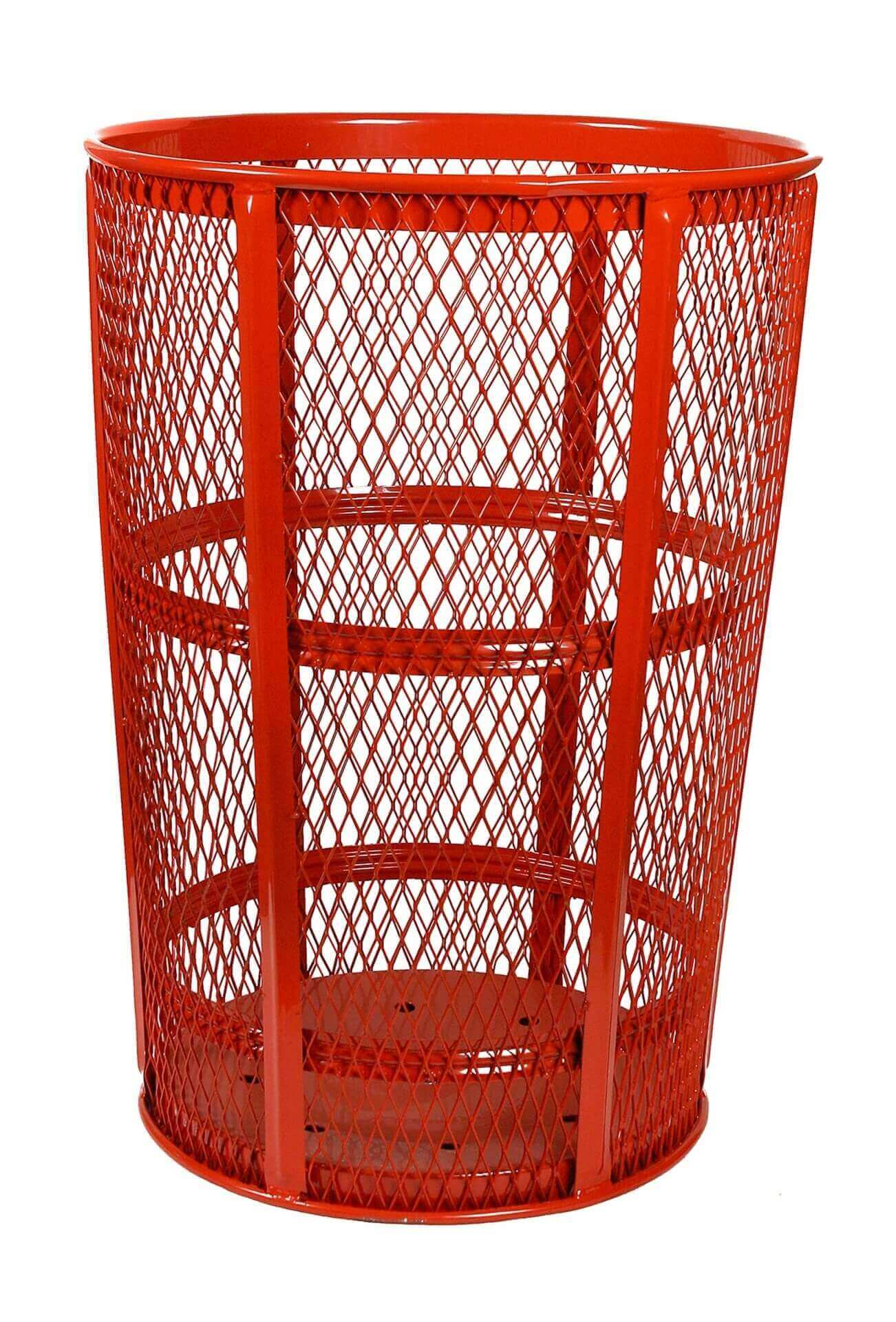 48 Gallon Expanded Metal Basket Style Trash Receptacle