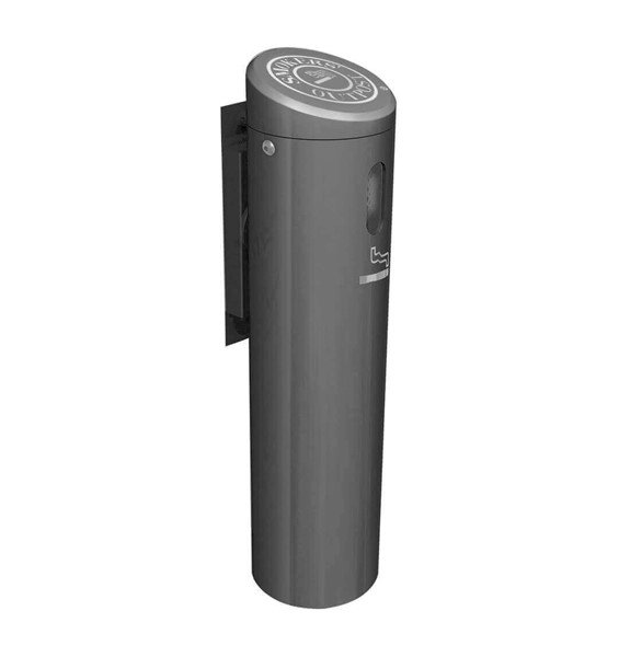 "16"" Smoker's Outpost Commercial Wall-Mount Aluminum Cigarette Disposal"