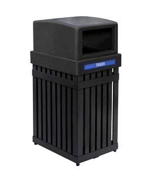 25 Gallon Arch Tec Commercial Square Plastic Trash Receptacle With Dome Lid