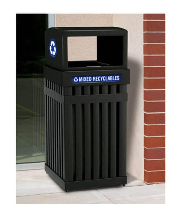 25 Gallon Arch Tec Commercial Rectangular Steel Trash
