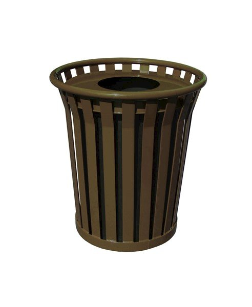 36 Gallon Wydman Series Round Steel Receptacle w/ Liner and Top