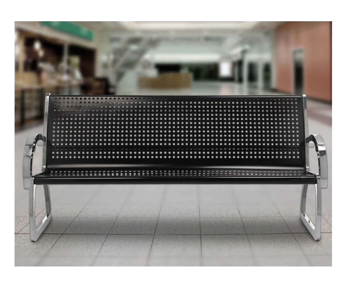 Skyline Stainless Steel Bench With Black Powder Coated