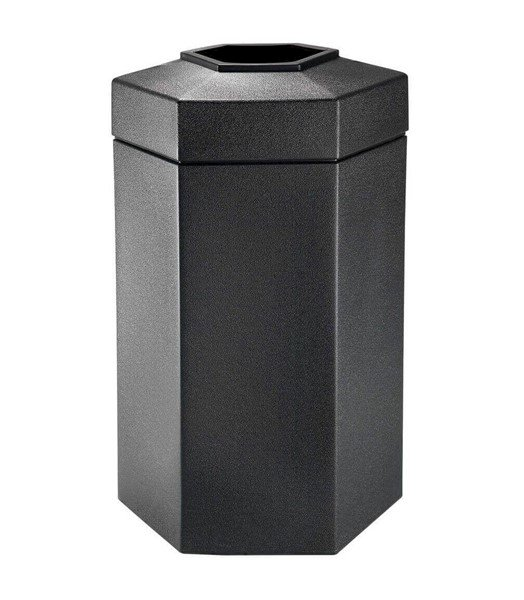 50 Gallon Poly Tec Commercial Plastic Hexagonal Trash Receptacle