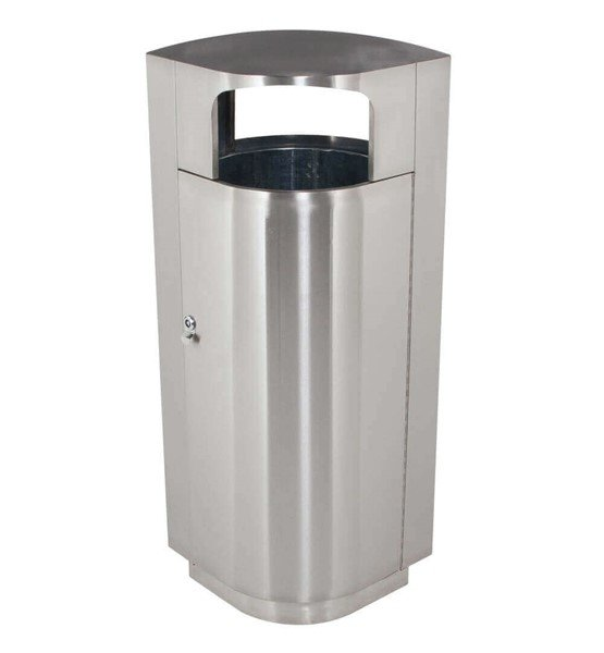 20 Gallon Leafview Commercial Stainless Steel Trash Receptacle