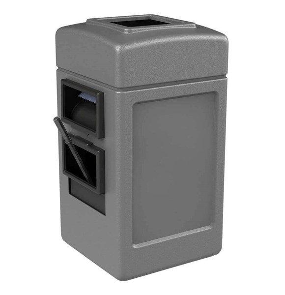 28 Gallon Island Service Center - Polyethylene Plastic Receptacle With 2 Gallon Bucket And Towel Dispenser