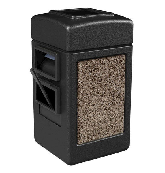 28 Gallon Stone Tec Island Service Center - Polyethylene Plastic Receptacle With 2 Gallon Bucket And Towel Dispenser