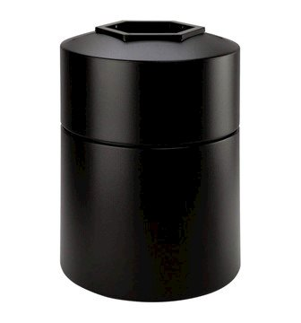 45 Gallon Poly Tec Polyethylene Plastic Round Trash Receptacle