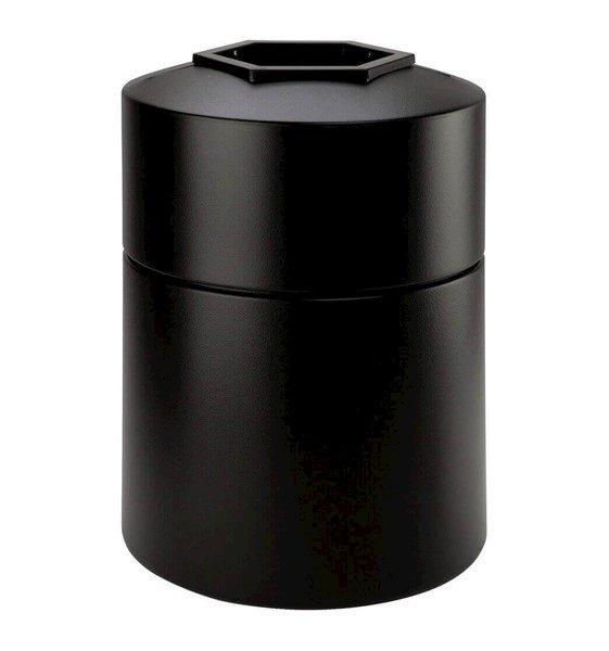 45 Gallon Poly Tec Polyethylene Plastic Round Trash Receptacle