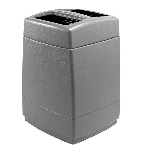55 Gallon Poly Tec Polyethylene Plastic Square Trash Receptacle