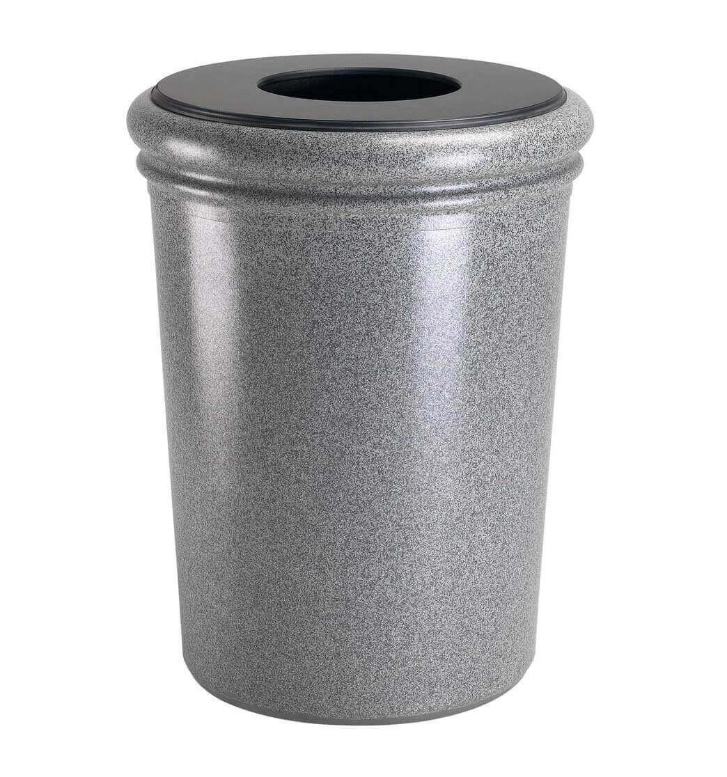 50 Gallon Stone Tec Commercial Round Polymer Concrete
