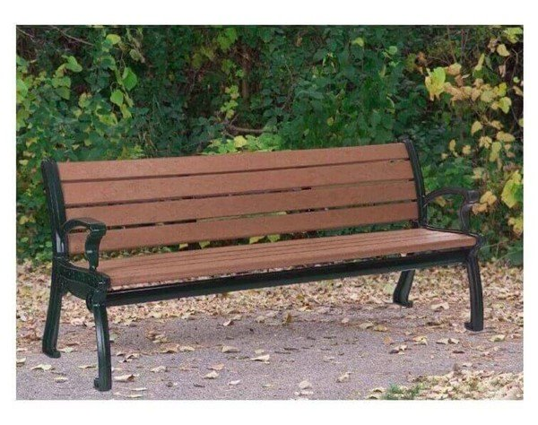 Park Ave Recycled Plastic Bench With Cast Aluminum Frame