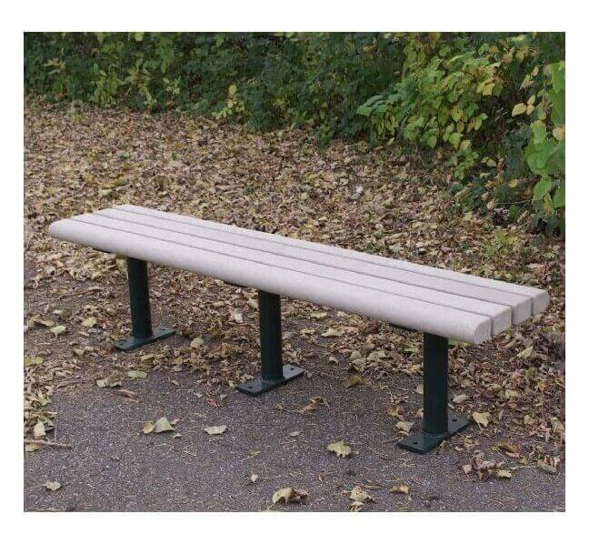Park Scapes Recycled Plastic Flat Backless Bench With