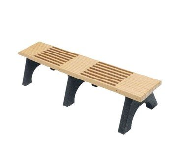 6 Ft. Park Place Recycled Plastic Flat Backless Bench