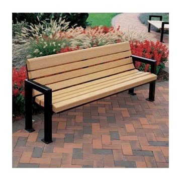 6 Ft. Mission Park Recycled Plastic Bench With Steel Frame