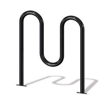 5 Space Wave Bike Rack With Steel Frame