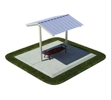 10' x 10' All-Steel Mini Shelter - Surface Mount